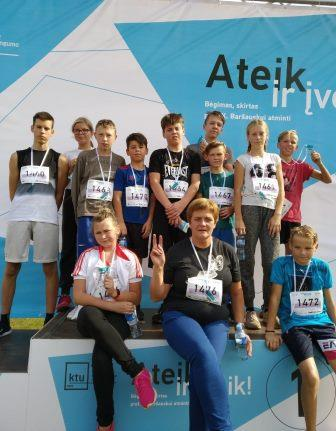 bėgikų komanda